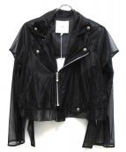 UN3D.(アンスリード)の古着「シアーライダースジャケット」|ブラック