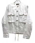 RRL(ダブルアールエル)の古着「デニムカットオフノーカラージャケット」|ホワイト