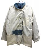 gourmet jeans(グルメジーンズ)の古着「リバーシブルジャケット」|ホワイト×ブルー