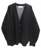 WHITELAND BLACKBURN(ホワイトランドブラックバーン)の古着「ラインロゴカーディガン」|ブラック