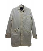 Denham(デンハム)の古着「ステンカラーコート」|ホワイト