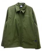 APPLEBUM(アップルバム)の古着「スポーツシャツジャケット」|オリーブ