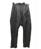 LIMI feu(リミフゥ)の古着「ワイドテーパードストライプパンツ」|グレー