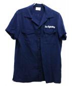 TMT(ティーエムティー)の古着「スーベニアリネンシャツ」|ネイビー