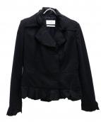 Yves Saint Laurent(イブサンローラン)の古着「[OLD]フリルジャケット」|ブラック
