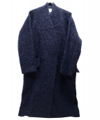 TOMORROW LAND(トゥモローランド)の古着「モヘアウールコート」|ネイビー
