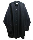 Martin Margiela4(マルタンマルジェラ4)の古着「オーバーサイズシャツ」|ブラック