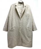 forte forte(フォルテフォルテ)の古着「ネップツイードコート」|ベージュ