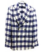 RING JACKET(リングジャケット)の古着「チェックダブルジャケット」|ブルー