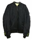 MAGIC STICK(マジックスティック)の古着「ビップボンバージャケット」|ブラック×イエロー