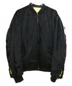 MAGIC STICK(マジックスティック)の古着「ビップボンバージャケット」 ブラック×イエロー