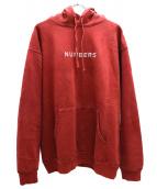 RHC Ron Herman × Numbers Edition(ロンハーマン×ナンバーズエディション)の古着「プルオーバーパーカー」|レッド