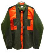 FDMTL(ファンダメンタル)の古着「シアサッカー切替シャツ」|カーキ