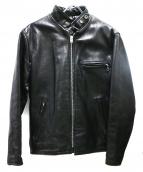 SCHOTT BROS.(ショットブロス)の古着「ライナー付レザーシングルライダースジャケット」|ブラック