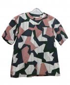 sacai(サカイ)の古着「ショルダージッププルオーバー」|ピンク×グレー