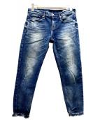 upper hights(アッパーハイツ)の古着「ストレッチデニムアンクルデニムパンツ」|ブルー