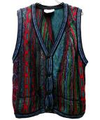 COOGI(クージー)の古着「[古着]3Dニットベスト」 マルチカラー