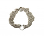 Tiffany & Co.(ティファニー)の古着「オープンハートトグル10連ネックレス」|シルバー