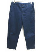 sacai(サカイ)の古着「サイドラインアンクルカットパンツ」|ネイビー