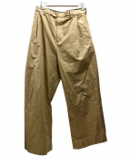 UNUSED(アンユーズド)の古着「タックワイドパンツ」|ベージュ