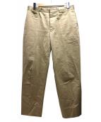SCYEBASICS(サイベーシックス)の古着「サンホーキン棉ムラ糸チノテーパードトラウザーズ」|ベージュ