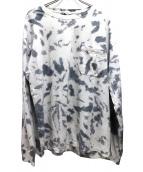 UNUSED(アンユーズド)の古着「ロングスリーブタイダイカットソー」|ホワイト×グレー