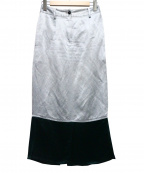 CINOH(チノ)の古着「リネン混切替スカート」|グレー