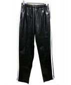 A(LeFRUDE)E(アルフルード)の古着「フェイクレザートラックパンツ」|ブラック