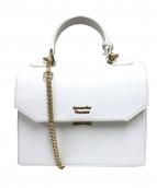 Samantha Thavasa(サマンサタバサ)の古着「アコーディオン2WAYバッグ」|ホワイト