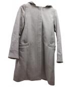 le.coeur blanc(ルクールブラン)の古着「フード&ノーカラーコート」|ピンク