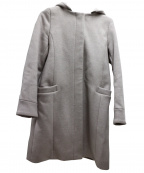 le.coeur blanc(ルクールブラン)の古着「フード&ノーカラーコート」 ピンク