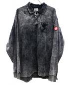 C.E×BEAUTY&YOUTH(シーイー×ビューティーアンドユース)の古着「L/Sポロシャツ」|グレー