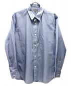 MARGARET HOWELL(マーガレットハウエル)の古着「ストライプシャツ」|ブルー×ホワイト