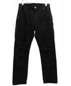 orSlow(オアスロウ)の古着「ダックダブルニーパンツ」|ブラック