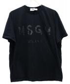 MSGM(エムエスジーエム)の古着「ロゴプリントTシャツ」|ブラック