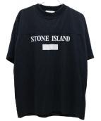 STONE ISLAND(ストーンアイランド)の古着「ハイネックリフレクトロゴプリントTシャツ」|ブラック