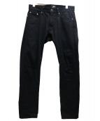 TMT(ティーエムティー)の古着「ストレッチリジットデニムパンツ」|ブラック