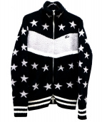 TMT(ティーエムティー)の古着「シャギースターボアジップジャケット」|ブラック