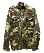 TMT(ティーエムティー)の古着「カモフララインストーンジャケット」|カーキ