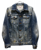 TMT(ティーエムティー)の古着「ペイント加工デニムジャケット」|インディゴ