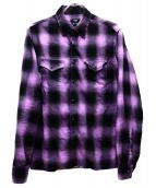 TMT(ティーエムティー)の古着「オンブレチェックシャツ」|パープル