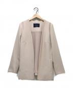 JUSGLITTY(ジャスグリッティー)の古着「ノーカラージャケット」|ピンク