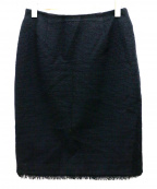 FOXEY(フォクシー)の古着「ツイードスカート」|ブラック