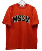 MSGM(エムエスジーエム)の古着「ロゴプリントTシャツ」|オレンジ