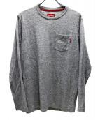 Supreme(シュプリーム)の古着「ロングスリーブポケット付カットソー」|グレー