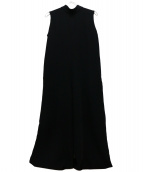 NINE(ナイン)の古着「スタンドカラーオールインワン」|ブラック