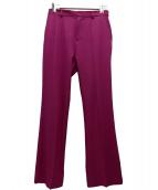 NINE(ナイン)の古着「センタープレスベルボトムパンツ」 ピンク
