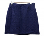 A.P.C.(アーベーセ)の古着「ジャガードスカート」|ネイビー