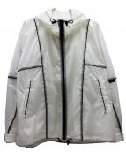 FRAY ID(フレイアイディー)の古着「カラーブロックナイロンジャケット」|ホワイト