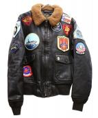 COCKPIT(コックピット)の古着「TOP GUN G-1フライトジャケット」|ブラウン